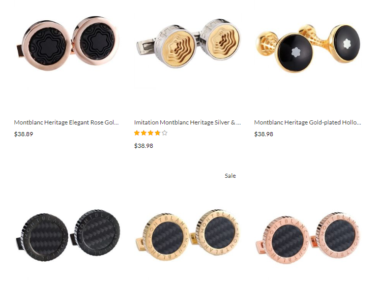 durable replica Montblanc cufflinks sale