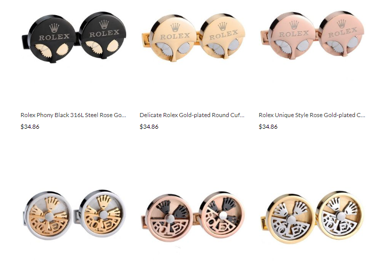 quality rolex replica cufflinks